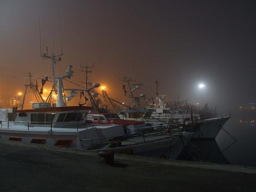 Porto di Cattolica - Pescherecci nella nebbia (4053 clic)