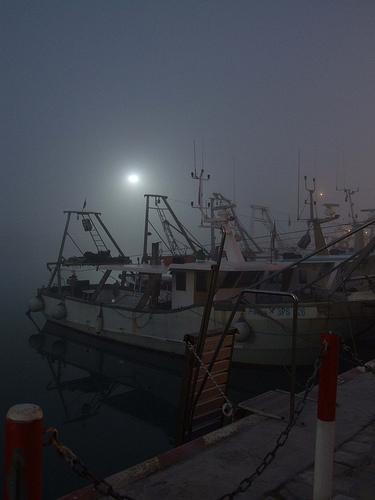Porto di Cattolica - Pescherecci nella nebbia - inverno (2508 clic)