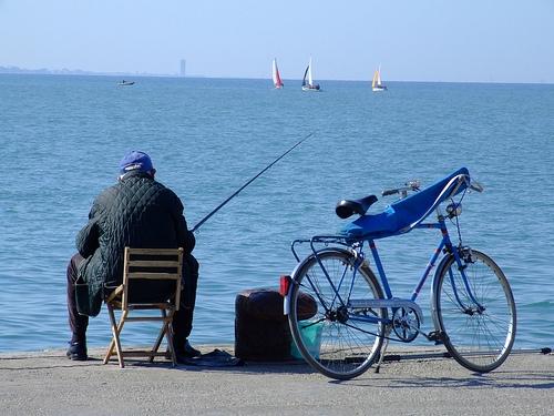 Rimini - Pescatore sul Molo (4117 clic)