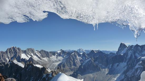 Panorama dall'Aguille du MIdì - Chamonix (2553 clic)