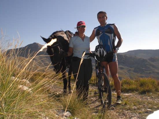 Lago di Pantaniello escursione cavallo Mtb Rinaldo Elena  - Barrea (3002 clic)