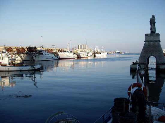 la statua di San Tommaso ed il porto peschereccio - Ortona (3336 clic)