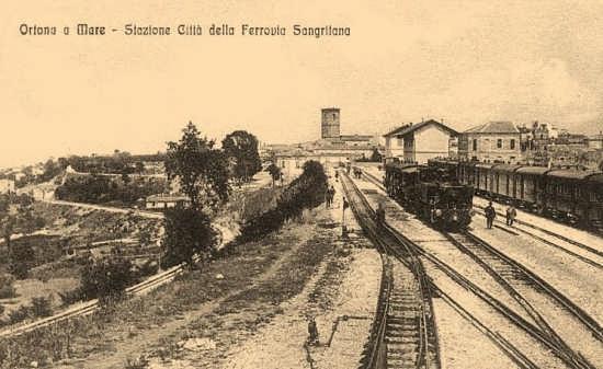 stazione ferrovia Sangritana 1928 - Ortona (7750 clic)