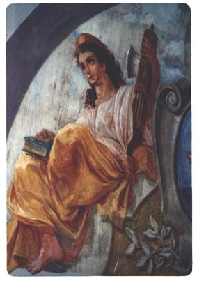 Particolare di un affresco di Palazzo Bevilacqua (1313 clic)