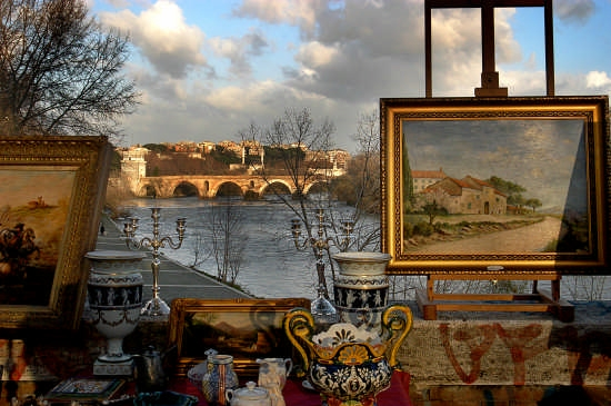 Il mercatino di ponte Milvio - Roma (5317 clic)