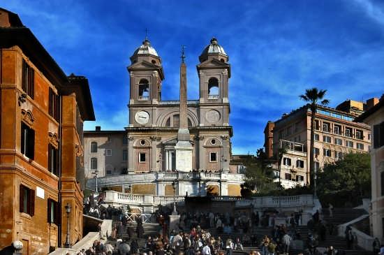 Trinità dei Monti - Piazza di Spagna - Roma (5695 clic)