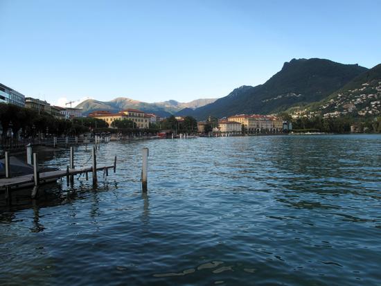 Lugano al tramonto (2394 clic)