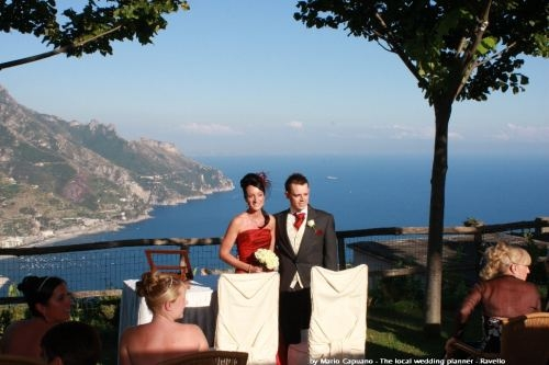 Symbolic wedding in Ravello ( Amalfi Coast Italy) (2773 clic)