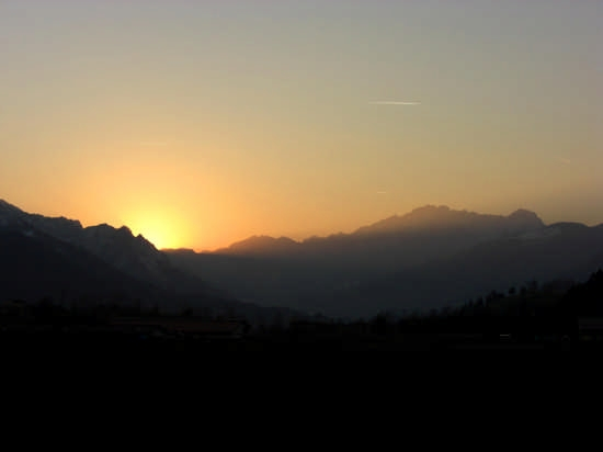 Tramonto in Val Seriana - Rovetta (1982 clic)