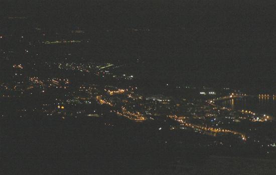 VISTA NOTTURNA DEL LITORALE - San marco d'alunzio (2394 clic)