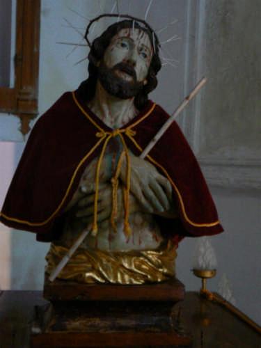 PETTINEO - CHIESA SAN SEBASTIANO - STATUA ECCE HOMO (4529 clic)