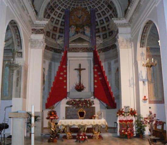 ALTARE DELLA CHIESA DI SANTA OLIVA - Pettineo (2702 clic)