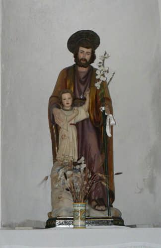 PETTINEO - CHIESA SAN SEBASTIANO - statua di san giuseppe (4853 clic)