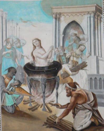 PETTINEO -  AFFRESCO DEL MARTIRIO DI SANTA OLIVA (6388 clic)