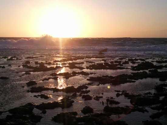Mare in tempesta al tramonto - Nardò (6503 clic)