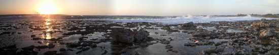 Panorama con mare in tempesta al tramonto  - Nardò (3129 clic)