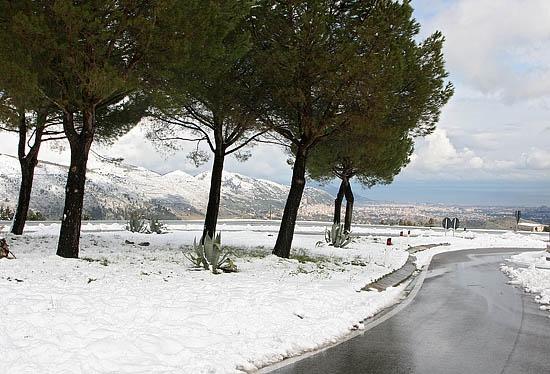 Palermo: mare e neve (7001 clic)