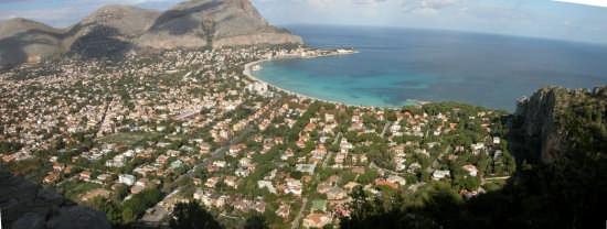 mondello da mont Pellegrino - Palermo (4619 clic)