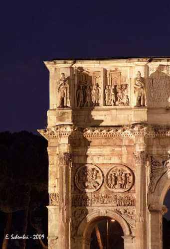 Arco di Costantino in notturna - Roma (2026 clic)