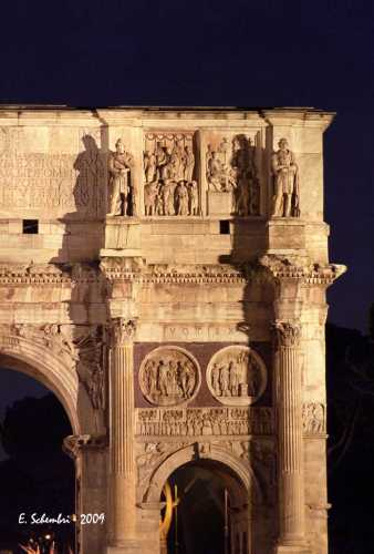 Arco di Costantino in notturna - Roma (2070 clic)