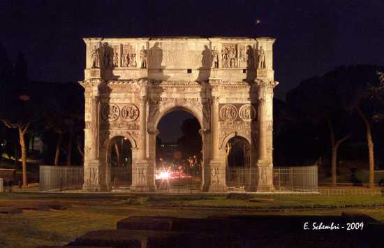 Arco di Costantino in notturna - Roma (2029 clic)