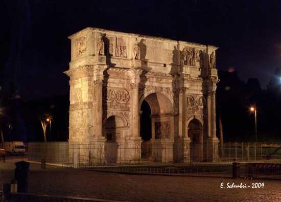 Arco di Costantino in notturna - Roma (2009 clic)