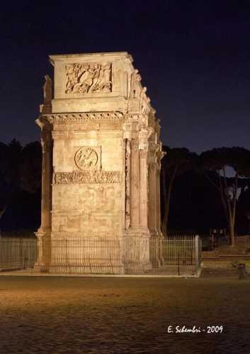 Arco di Costantino in notturna - Roma (1695 clic)