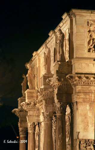 Arco di Costantino in notturna - Roma (1973 clic)