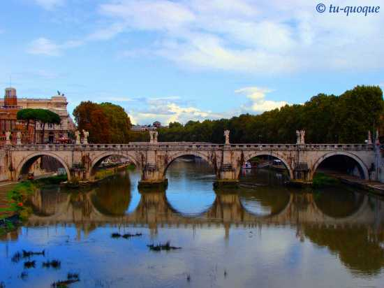 Roma-'doppio' ponte Sant'Angelo (3841 clic)