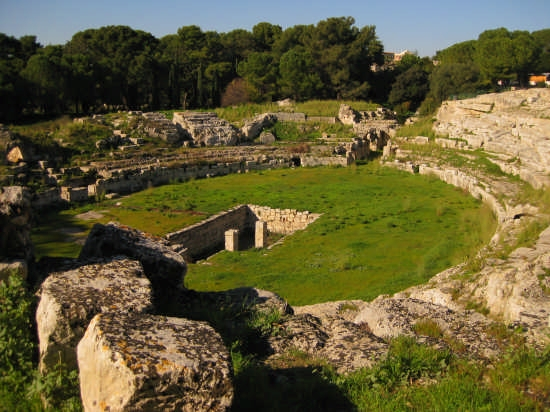 Siracusa,anfiteatro romano(I sec A.C.) (4828 clic)