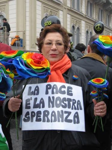 Manifestazione per la pace - MILANO - inserita il 03-Oct-08