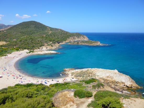 Veduta su spiaggia Su Portu - Chia (3421 clic)