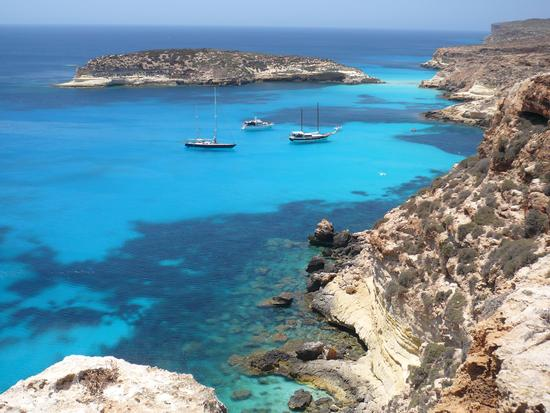 Isola dei Conigli vista dal sentiero panoramico  - Lampedusa (9475 clic)