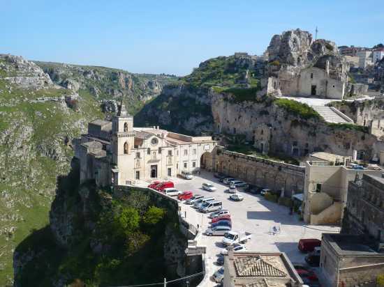 Veduta sul Sasso Caveoso e la gravina - Matera (5037 clic)