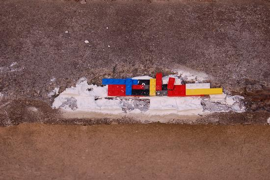 MURO RIPARATO CON......LEGO - Modena (1892 clic)