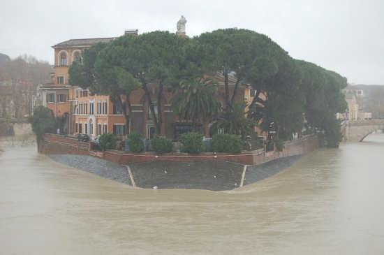 Piena del tevere all'isola Tiberina 12.12.2008 - Roma (2205 clic)