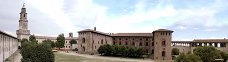 panoramica castello - Vigevano (2106 clic)