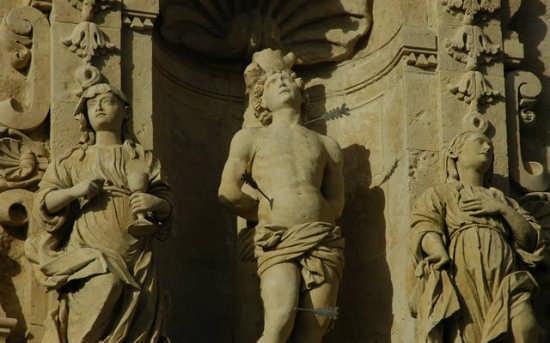 Ferla  - Chiesa di San Sebastiano - particolare (3448 clic)