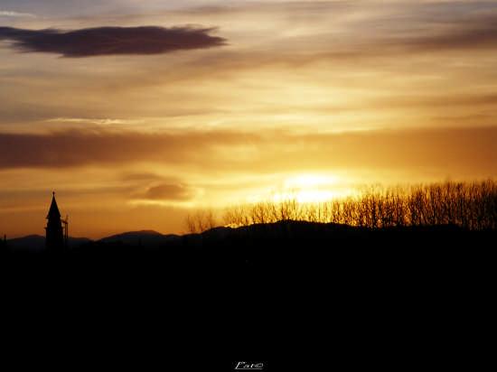 Caldo tramonto - Lentigione (1886 clic)