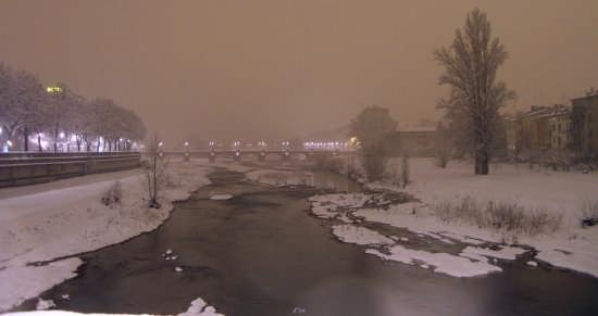 Letto del torrente Parma innevato (3416 clic)