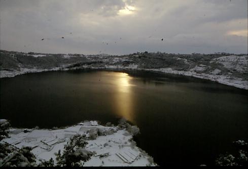 Tramonto  invernale - Nemi (1996 clic)