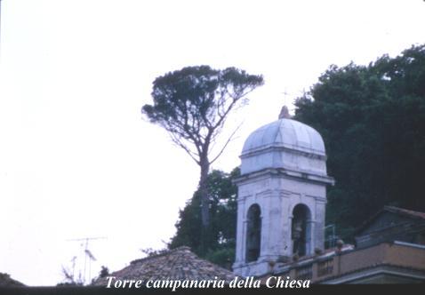 Torre campanaria - Nemi (1944 clic)