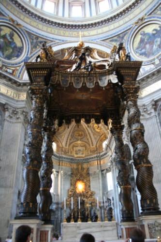 Altare in  San Pietro - Roma (4154 clic)