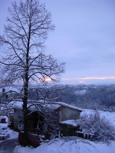 Neve attorno a Valfenera (1612 clic)