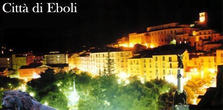 Piazza della Repubblica con il vecchio municipio sullo sfondo - Eboli (3653 clic)
