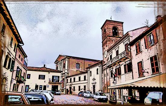 Piazza Barocci Mombaroccio (1086 clic)