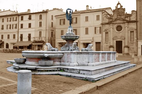 Fontana della Fortuna in Piazza XX Settembre - Fano (2879 clic)