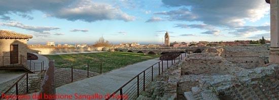 Panorama dal Bastione Sangallo di Fano (4130 clic)