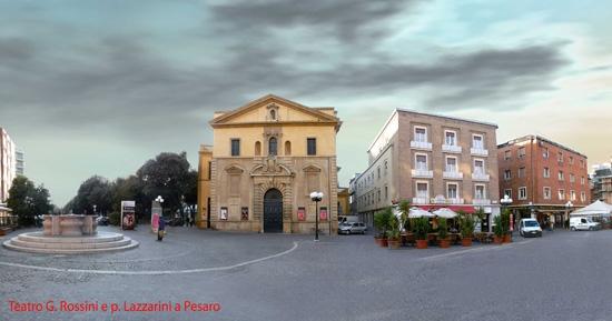 Teatro G. Rossini e p. Lazzarini a Pesaro (4200 clic)