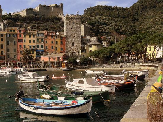 il porto con il borgo.. - Porto venere (2857 clic)